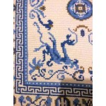 Antique Chinese Silk Dragon Rug
